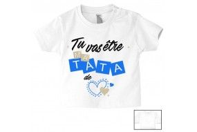 Tee-shirt de bébé ma tatie m'adore fille