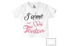 Tee-shirt de bébé j'aime mon toton trois étoiles garçon
