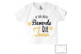 Tee-shirt de bébé je suis le petit cœur de ma tata
