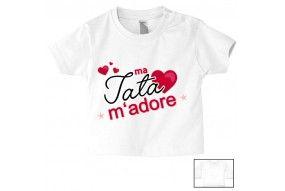 Tee-shirt de bébé mon tonton m'adore garçon