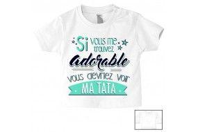 Tee-shirt de bébé je suis belle & intelligente comme tonton