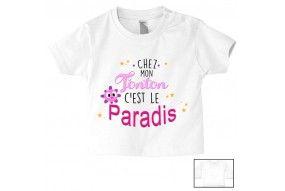 Tee-shirt de bébé chez mon tonton c'est le paradis garçon
