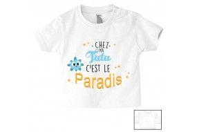 Tee-shirt de bébé chez mon tonton c'est le paradis fille