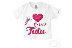 Tee-shirt de bébé je t'aime tonton strass fille