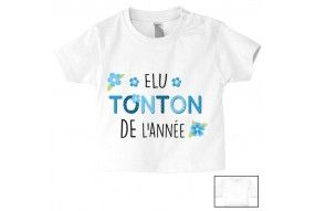 Tee-shirt de bébé attention tonton j'arrive garçon