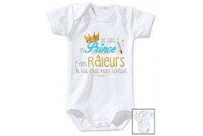 Body de bébé je suis le prince des râleurs la reine c'est ma tata