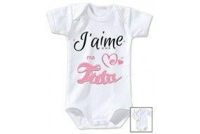 Body de bébé j'aime mon toton trois étoiles fille