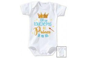 Body de bébé on ne touche pas au prince de mon tonton