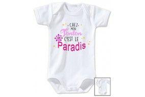 Body de bébé chez mon tonton c'est le paradis garçon