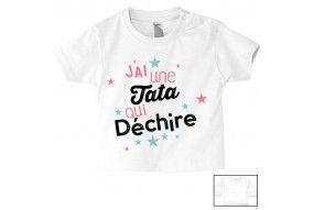 Tee-shirt de bébé élue tata de l'année fille
