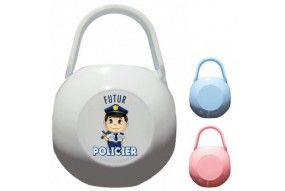 Boite à tétine futur policier sympa
