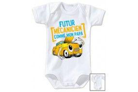 Body de bébé futur mécanicien comme papa