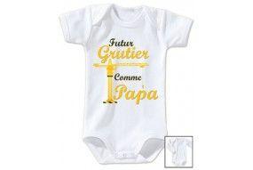 Body de bébé futur grutier comme papa altitude