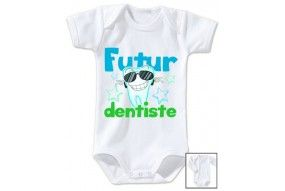 Body de bébé futur dentiste souriant