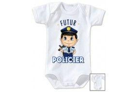 Body de bébé futur policier sympa