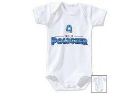 Body de bébé futur policier gyro