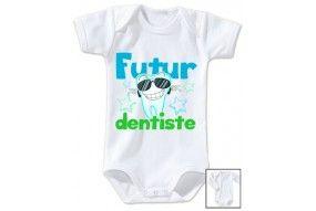 Bavoir de bébé futur dentiste souriant