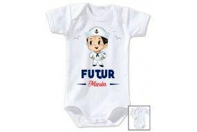 Bavoir de bébé futur marin