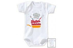 Bavoir de bébé futur cuisinier pro