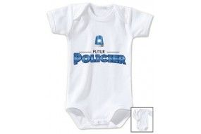Bavoir de bébé futur policier gyro