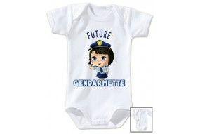 Bavoir de bébé future gendarmette