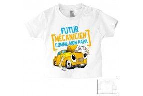 Tee-shirt de bébé futur mécanicien comme papa
