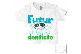 Tee-shirt de bébé futur dentiste souriant