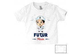 Tee-shirt de bébé futur marin