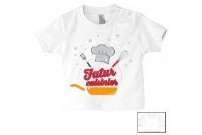 Tee-shirt de bébé futur cuisinier pro