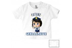 Tee-shirt de bébé future gendarmette