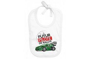Bavoir de bébé futur pilote de rallye best