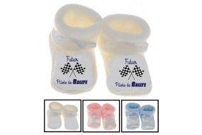 Chaussons de bébé futur pilote de rallye best
