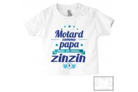 Tee-shirt de bébé futur carpiste comme papa
