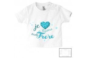 Tee-shirt de bébé je suis le prince des râleurs la reine c'est ma sœur