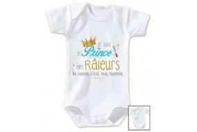 Body de bébé je suis le prince des râleurs la reine c'est ma mamie
