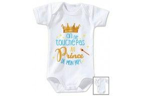 Body de bébé on ne touche pas au prince de mon papy