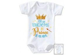 Body de bébé on ne touche pas au prince de ma mamie