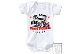 Body de bébé une bonne mamie est une mamie motarde