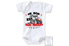 Body de bébé un bon papy est un papy motard