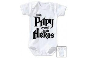 Body de bébé mon papy c'est mon héros