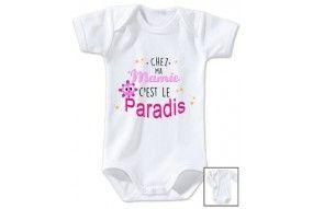 Body de bébé chez ma mamie c'est le paradis ensoleillé fille