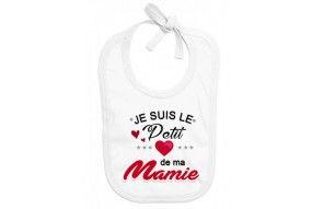 Bavoir de bébé je suis le petit cœur de ma mamie