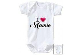 Body de bébé i love mamie brillant fille