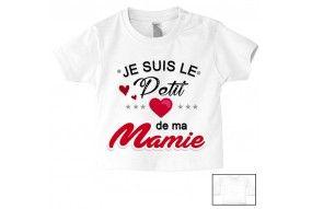Tee-shirt de bébé je suis le petit cœur de ma mamie