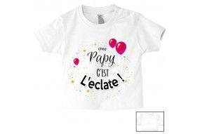 Tee-shirt de bébé chez papy c'est l'éclate
