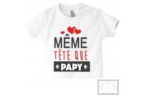 Tee-shirt de bébé même tête que papy
