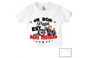 Tee-shirt de bébé un bon papy est un papy motard