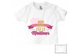 Tee-shirt de bébé mon papy est le meilleur