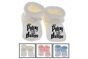 Chaussons de bébé mon papy c'est mon héros