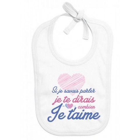 Bavoir de bébé je suis le bébé de l'amour
